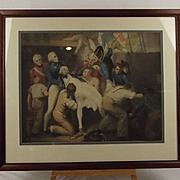 Fine Framed Late Victorian Death Of Lord Nelson Chromolithograph