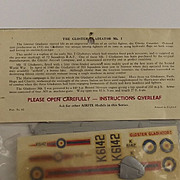 Sealed Airfix 1/72nd Scale Series 1 Gladiator Mk1 Type 3 Bagged Kit 1963