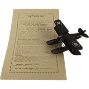 Givejoy Toys Skybirds 1/72nd Scale Aircraft Series Model No 10 Sopwith Schneider Baby ...