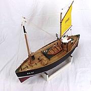 "Kit Built R/C Model Of The Motor Fifie Boat ""Amaranth"" 1:40 Scale"