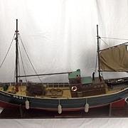 Well Built Model Of The Herring Drifter  Bonnie Girl (1947)