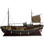 Well Built Model Of The Herring Drifter  Bonnie Girl (1947)