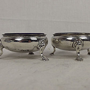 Pair Of George II Silver Open Salt Bowls - Hallmarked, London 1767