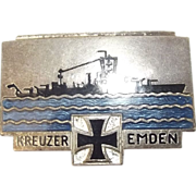 1920's German Cruiser Emden Enamel Badge