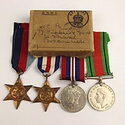 Boxed WW2 Medal Set Of 4 Medals With France & Germany Star