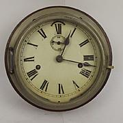 Circa 1880 Seth Thomas Mahogany Cased Ships Bulkhead Clock