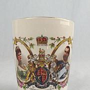 Gosport King George V Coronation Porcelain Beaker 1911
