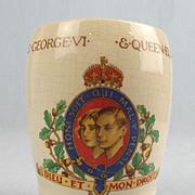 Gosport King George VI & Queen Elizabeth Coronation Porcelain Beaker 1937 #1