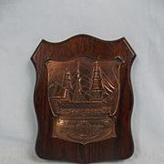 Nelson Commemorative HMS Victory Copper Plaque Circa 1905