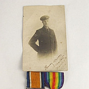 WW1 Royal Naval Air Service WW1 Medal Pair & Photo H.W. Beeston