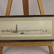 Gosport – Original Drypoint Etching By Rowland Langmaid