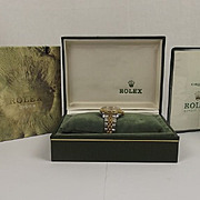 SOLD 1985 Ladies Steel & Gold Rolex Oyster Perpetual Date Watch In Original Box