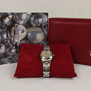 Boxed 1994 Ladies Stainless Steel Rolex Oyster Perpetual Wristwatch