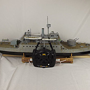 Scratch Built Radio Control Model Of The Monitor HMS Humber (1913) & Receiver