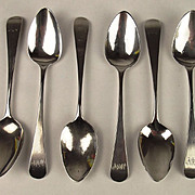 A Set of Six Georgian Silver Teaspoons London 1808