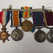 WW1 1914/15 GSM & LSGC Medal Group To Serjeant C.E.G. Adams Royal Army Ordnance Corps