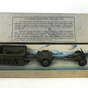 Pre-War Boxed Dinky Toys No. 162 18-Pounder Quick-Firing Field Gun Unit
