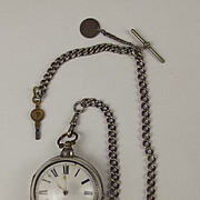 George III Silver Pair Cased Pocket Verge Watch By Thomas Taylor With Albert Chain