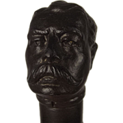 A Spelter Handled Walking Cane In The Form Of Lord Kitchener's Head