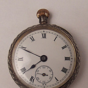 Sterling Silver Ladies Pocket Watch London Import 1912