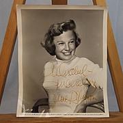 SOLD Signed Autograph Universal June Allyson Studio Shot 1956