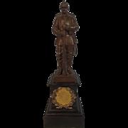 Circa 1896 Bronze Memorial Statue Of A German Soldier By R. Bellair & Co.