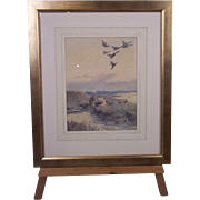 Arthur Briscoe (1873-1943) 1908 Watercolour Of A Duck Hunting Scene, Signed and Dated 1908