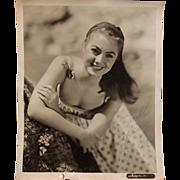 Signed Autograph Shirley Jones Studio Shot Circa 1950's