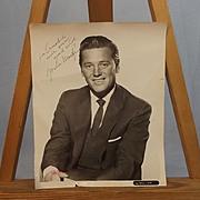 Signed Autograph Gordon Macrae Studio Shot Photograph Circa 1950's