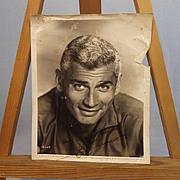 Signed Autograph Universal Jeff Chandler Studio Shot 1956