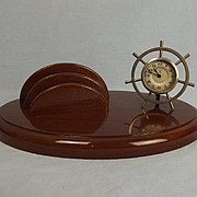 Circa 1920 Clock & Letter Rack From T.S.S. Cameronia