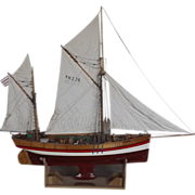 !!!SOLD!!! Hand Built Model Of The Circa 1875 Sailing Trawler Sandpiper