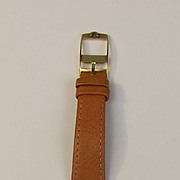Gents Omega Gold Plated Manual Wristwatch - Tan Strap