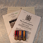 WW1 DCM Medal Group Awarded - Company Sergeant Major C.S. Cooper Royal Fusiliers