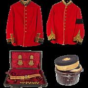 Victorian Tunic, Regalia & Pillbox Hat Uniform Set Of Prince Ernst August of Hanover