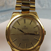 Gold Plated Omega Automatic Gents Wrist Watch 23 Jewel