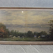 Charles N. Woolnoth R.S.W. (1815-1906) Watercolour Of The Clyde From Broadfield