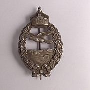 First War 1917 Imperial German Retired Pilots Badge