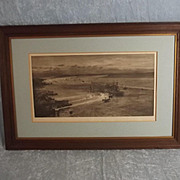 W.L. Wyllie Signed Lithographic Print - Battleships At Portsmouth Harbour At Night 1920