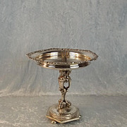A Large Victorian Silver Plated Table Centrepiece With Candle Sconce