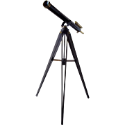 c1910  Brass Wray Broadhurst Clarkson & Company Telescope, Cased With Tripod