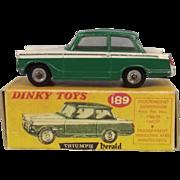 Dinky Toys No. 189 Triumph Herald - Repro Box