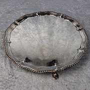 George III Three Footed Silver Salver By John Carter Of London 1799