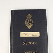 Mariner's Discharge Book 1910, G.F. Bull Signed By Capt. Smith - Titanic Captain