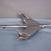 Large c1950 American Chrome Jet Plane Car Mascot
