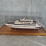 Cased Builders Model Of The Danish Catamaran The Eagle