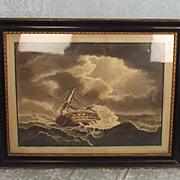 The Distress Of HMS Centaur In 1782 – 1792 Aquatint By Robert Dodd
