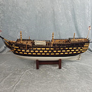Excellent Wooden Model Of HMS Victory