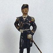 Lineol WW1 Era Hand Painted Imperial German Navy Admiral Raeder Composite Figurine