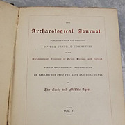1848 First Edition Of The Archaeological Journal, Vol. V